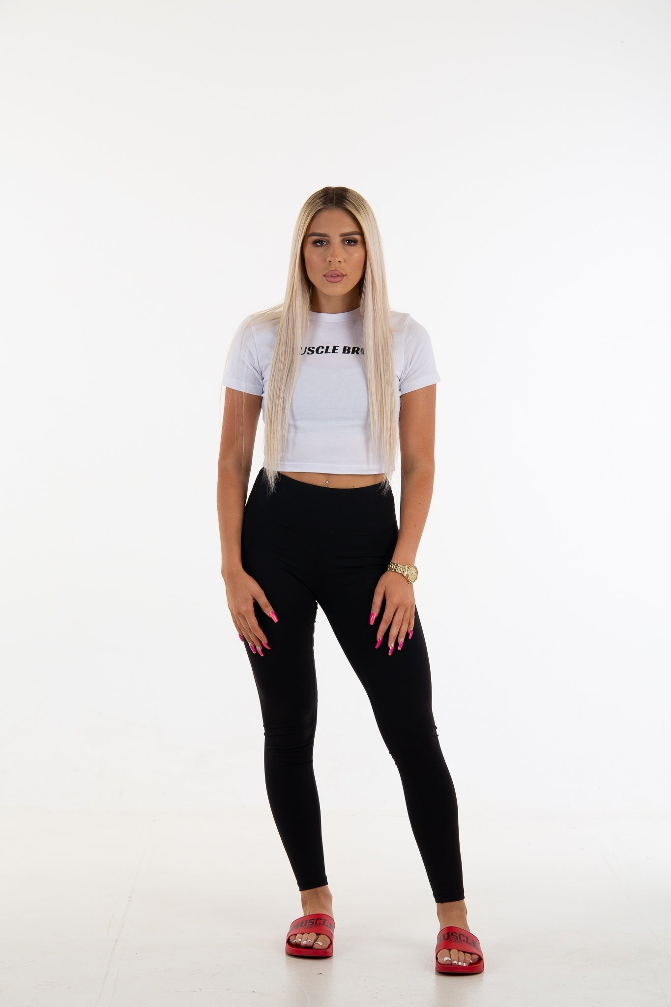Womens Cropped Tee - White