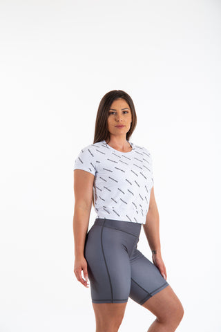 19/20 Womens Patterned White Tee