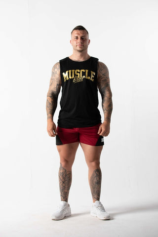 Summer Muscle Tee Black/Gold
