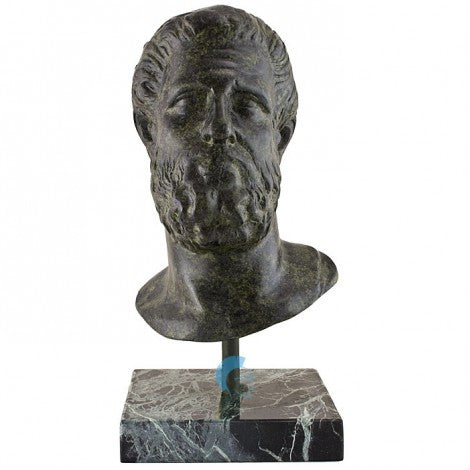 Hippocrates greek physician 25cm (bronze natural oxydite)