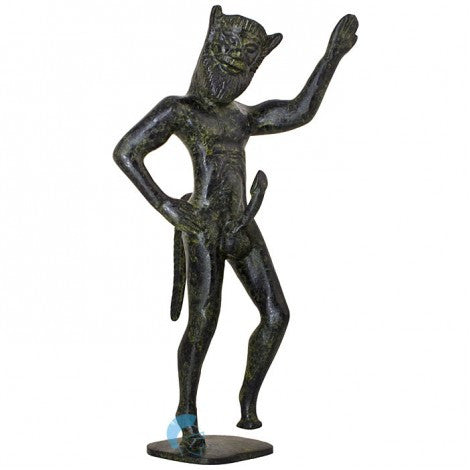 Satyr male nature spirit (bronze natural oxydite)
