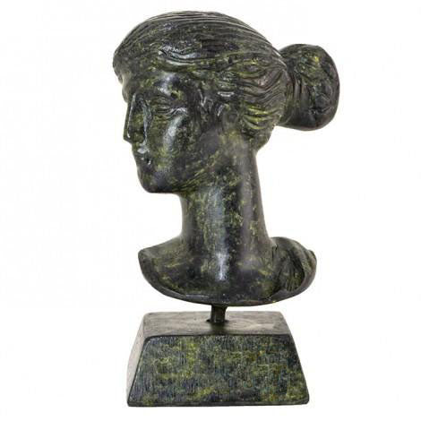 Bust of Artemis 9cm (bronze natural oxydite)