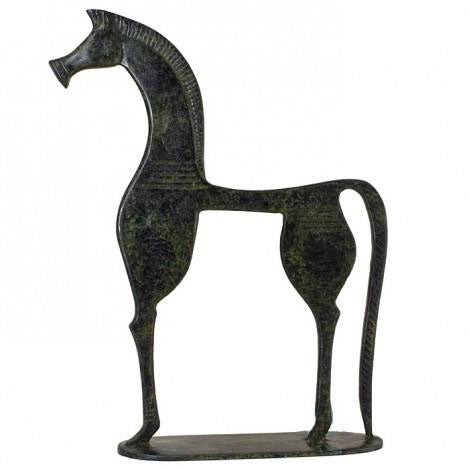 Horse of geometric period (bronze natural oxydite)