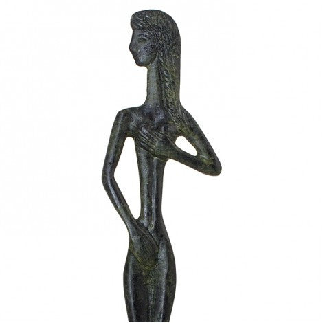 Aphrodite Greek goddess of love, beauty, pleasure, and procreation (bronze natural oxydite)