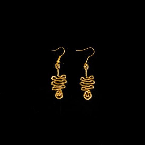 Gold platted earrings