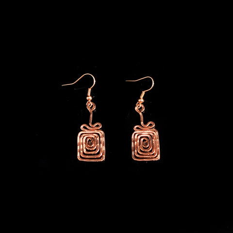 Pink gold platted earrings
