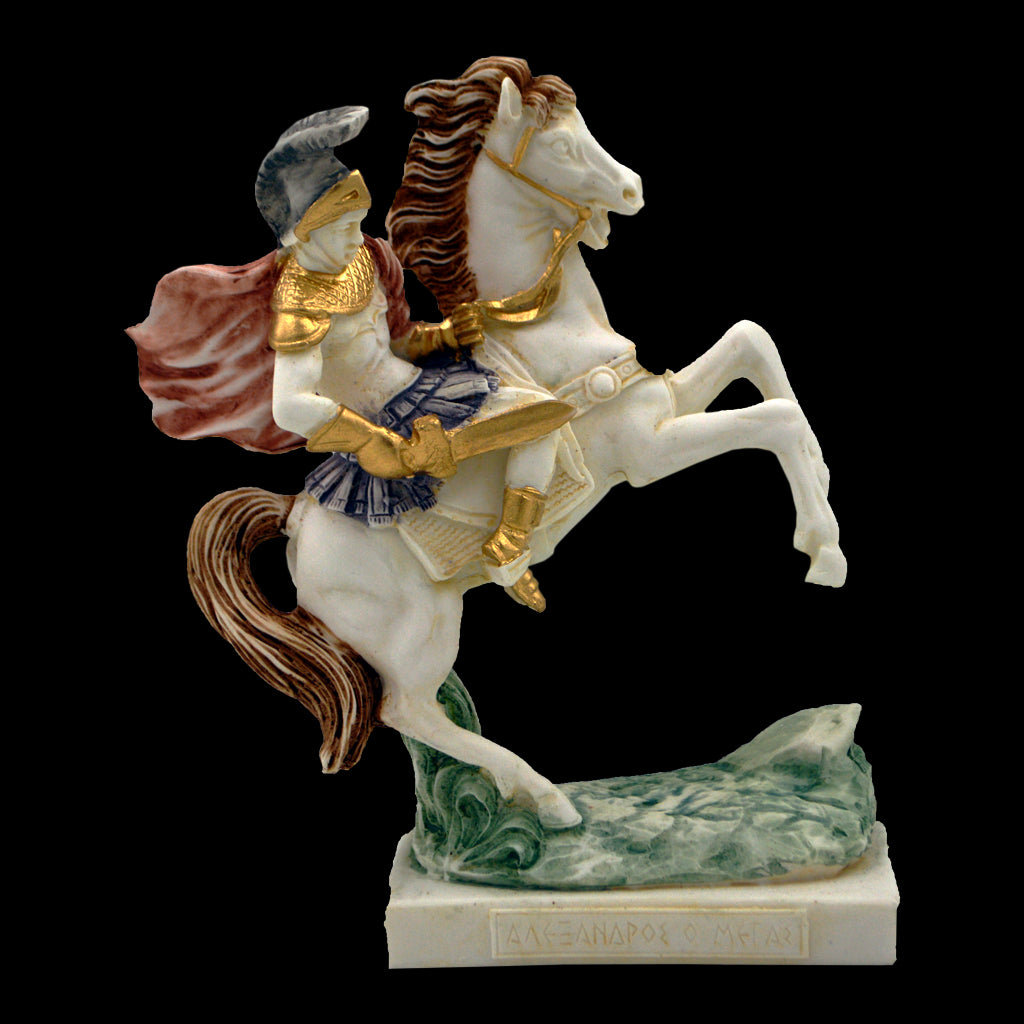 Alexander the Great on a horse 20cm