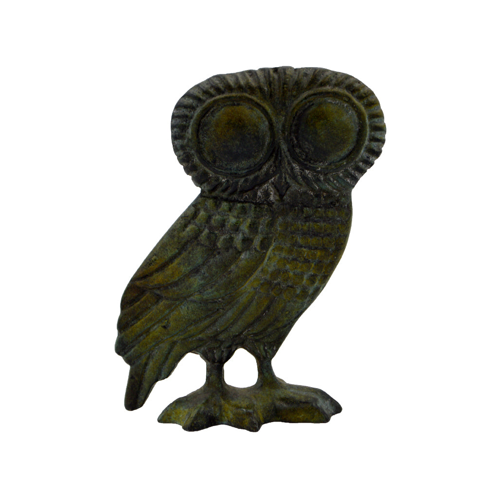 Owl of Athena (bronze natural oxydite) 13cm