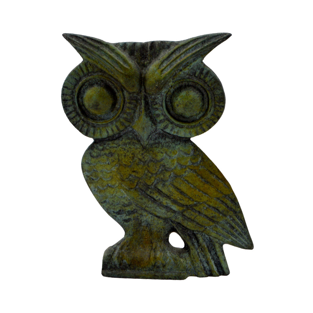 Owl of Athena (bronze natural oxydite) 12cm