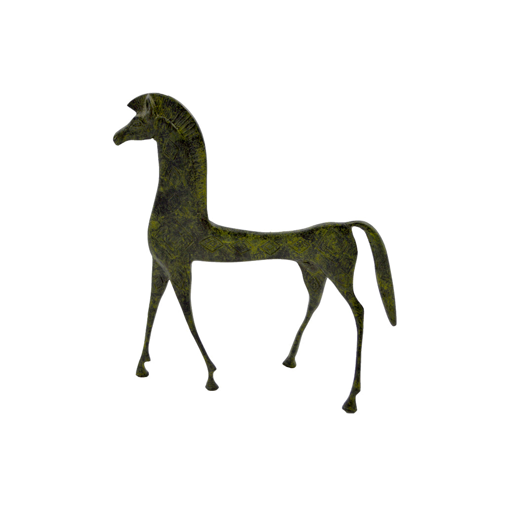 Horse of geometric period (bronze natural oxydite) 20cm