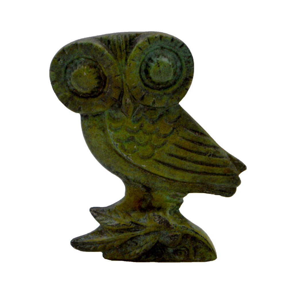 Owl of Athena (bronze natural oxydite)