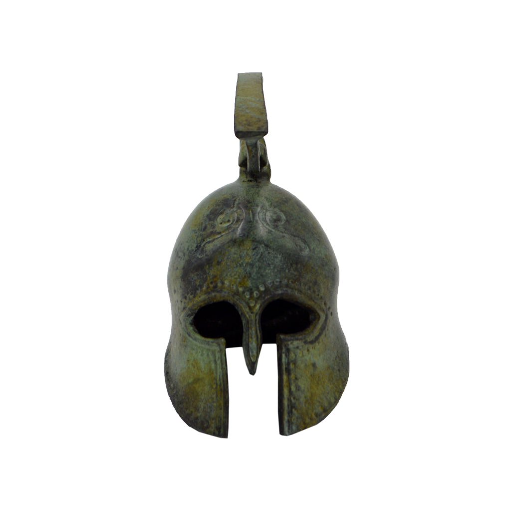 Corinthian helmet with crest (bronze natural oxydite) 16cm