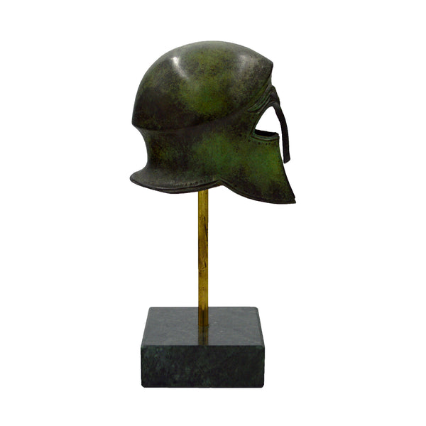 Helmet with base (bronze natural oxydite)