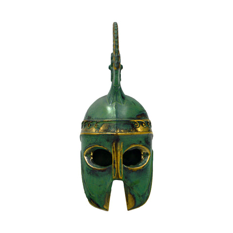 Corinthian helmet with colour and high crest