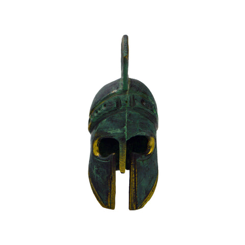 Corinthian helmet with crest (bronze natural oxydite) 13cm