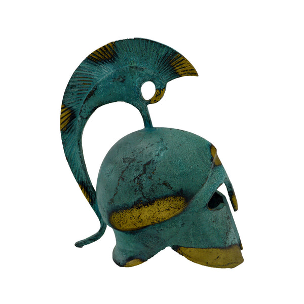 Corinthian helmet with high crest (bronze natural oxydite)