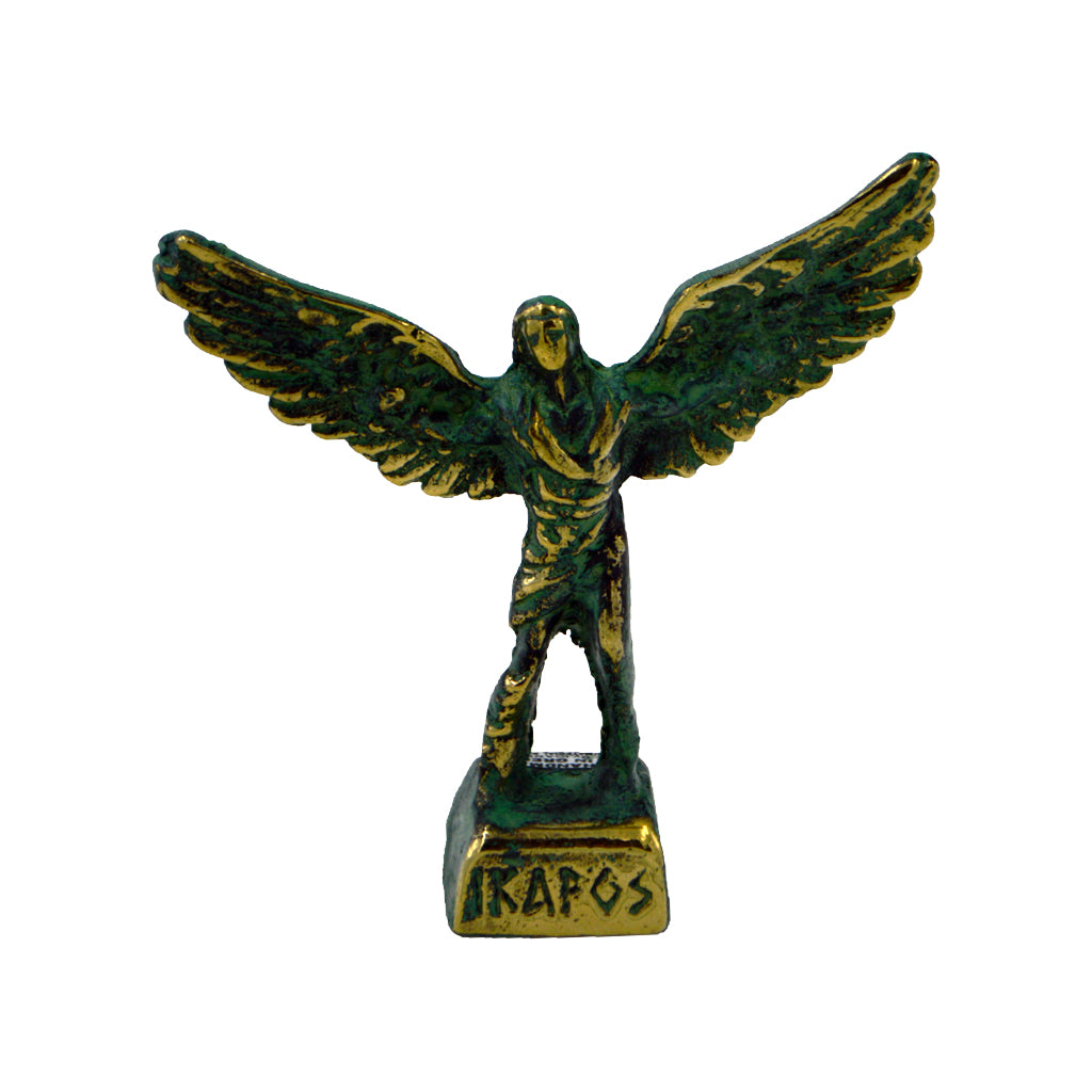 Icarus son of daedalus (bronze natural oxydite)