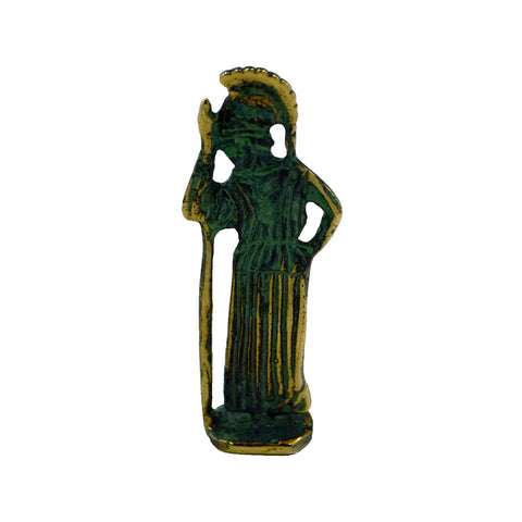 Athena goddesses of wisdom with spear (bronze natural oxydite)