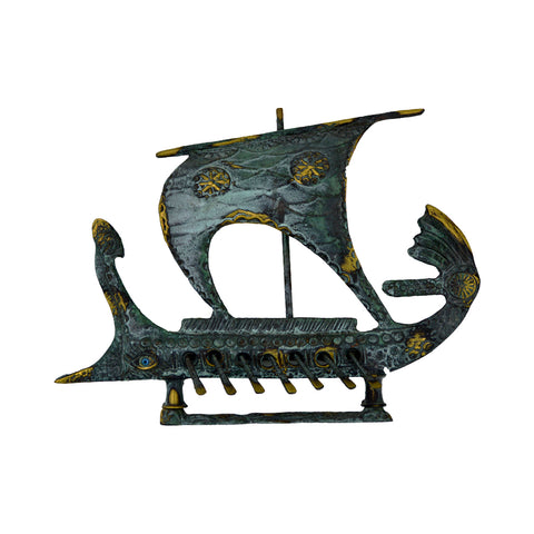 Argo ship (the ship on which Jason and the Argonauts) (bronze natural oxydite)