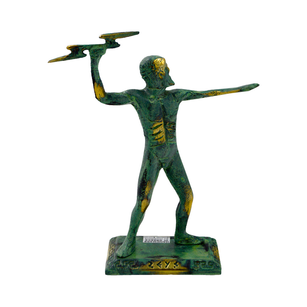 Zeus holding the thunder (bronze natural oxydite)