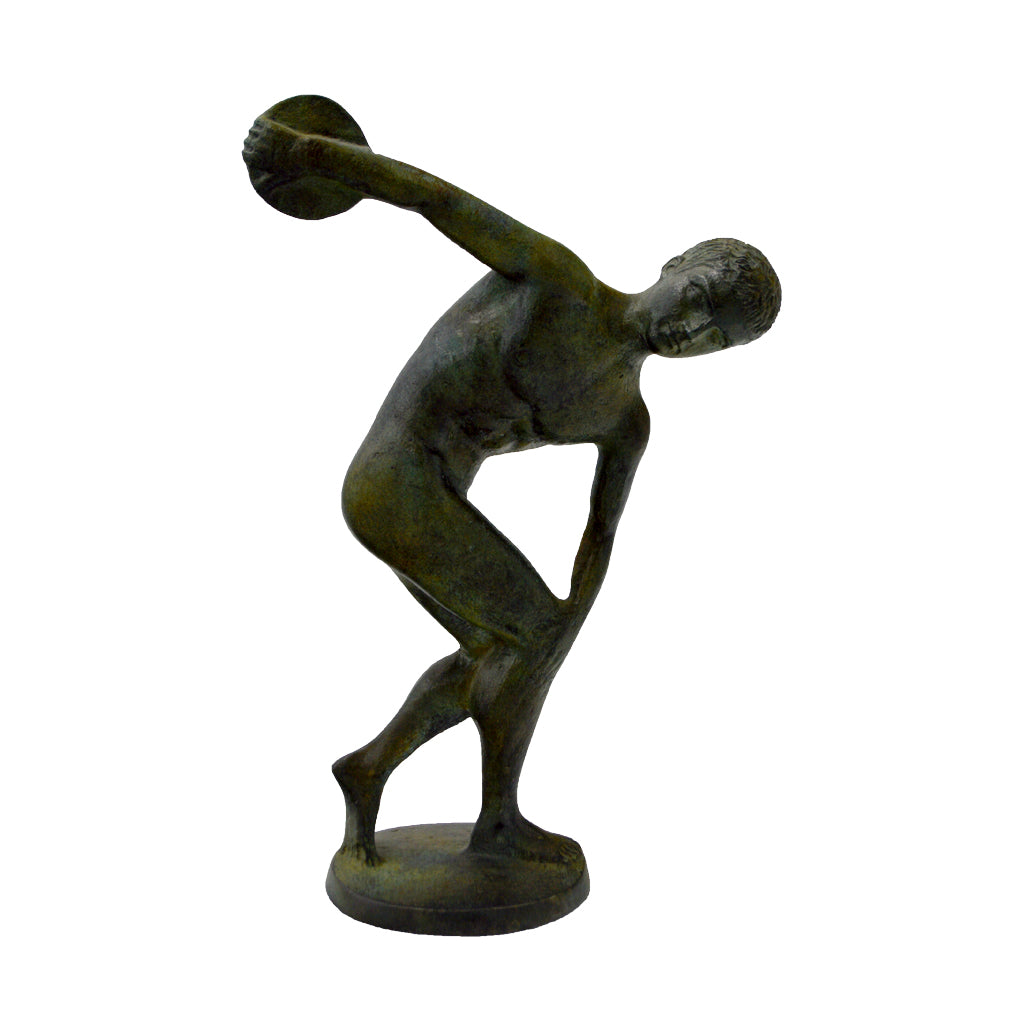 The Discobolus of Myron (bronze natural oxydite)