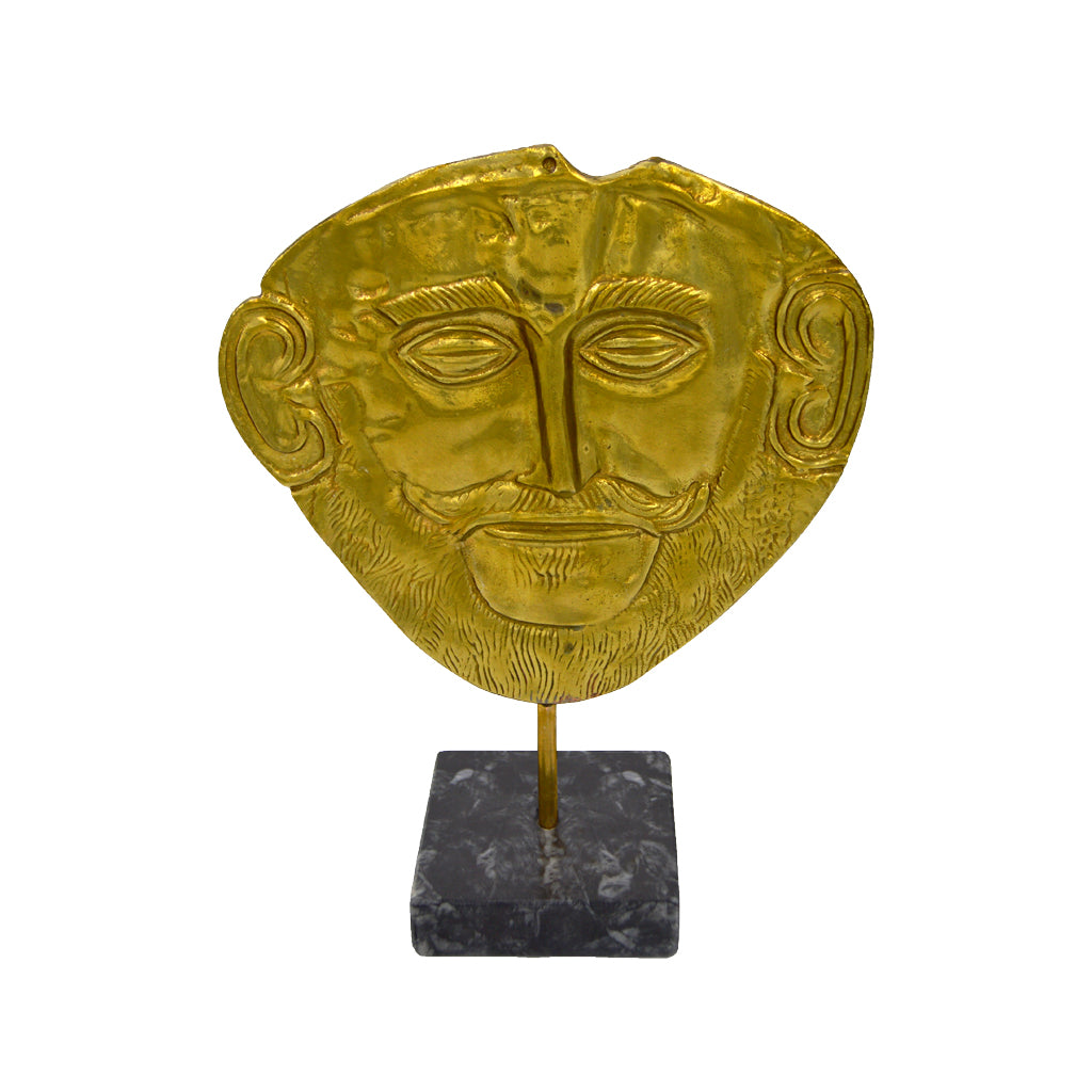 Mask with Alexander the Great with base (bronze natural oxydite)