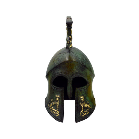Corinthian helmet with crest (bronze natural oxydite)