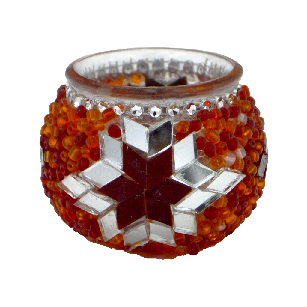 Reso (Candle holder) (orange - red) 6cm
