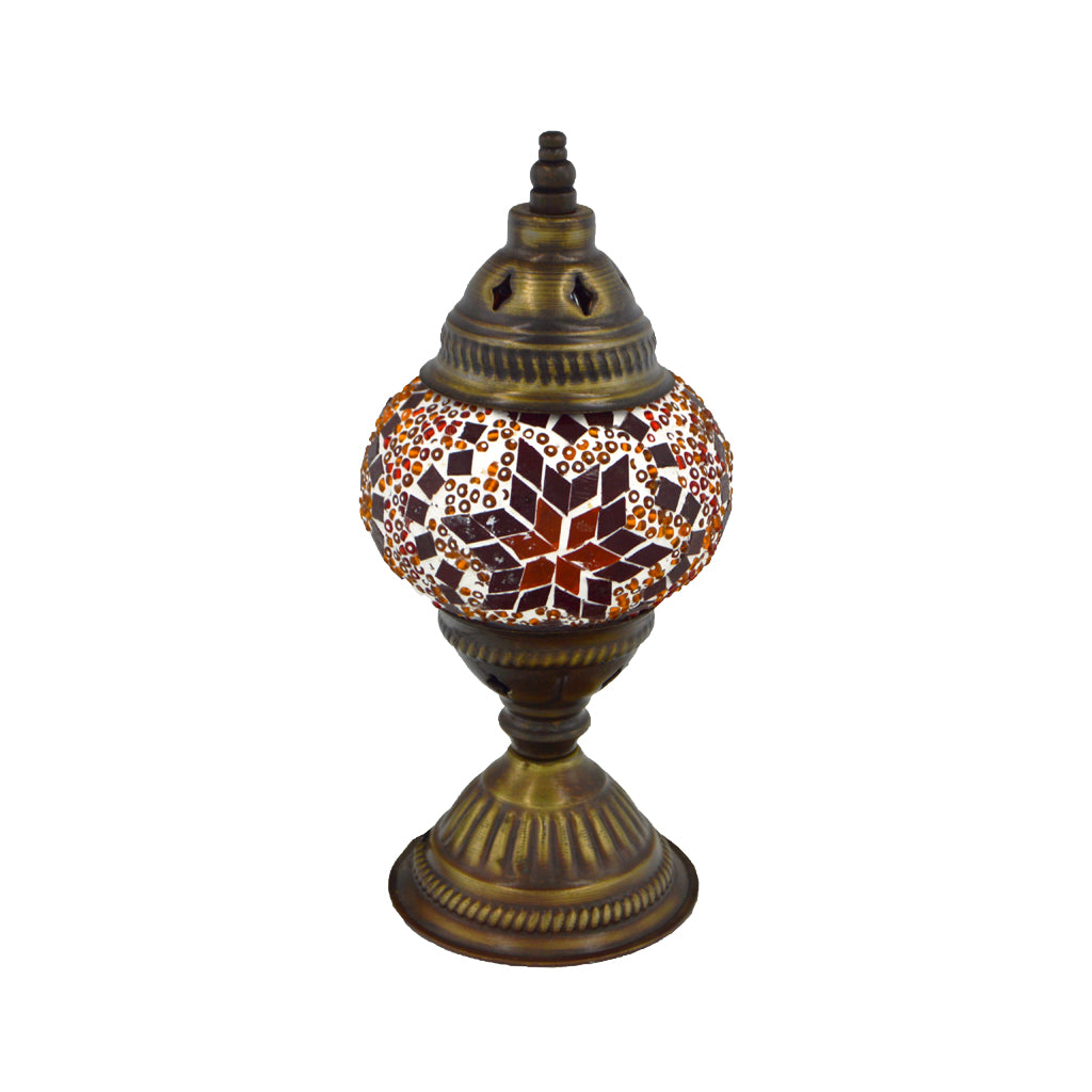 mosaic lamp  (blue - red) 23cm