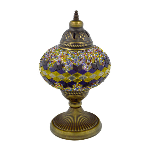 mosaic lamp (blue - green) 29cm