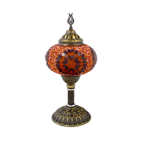 mosaic lamp (orange - blue) 38cm