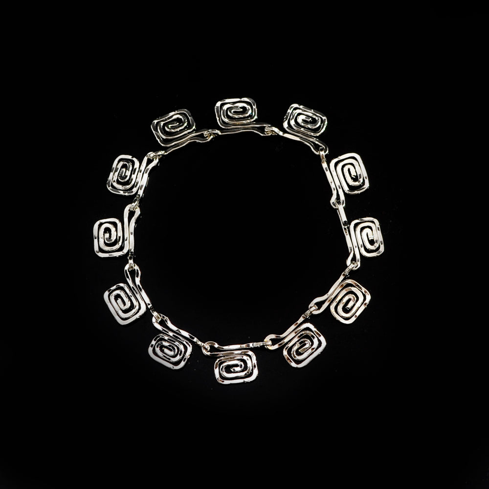 Silver Plated bangle meandros symbol of eternity