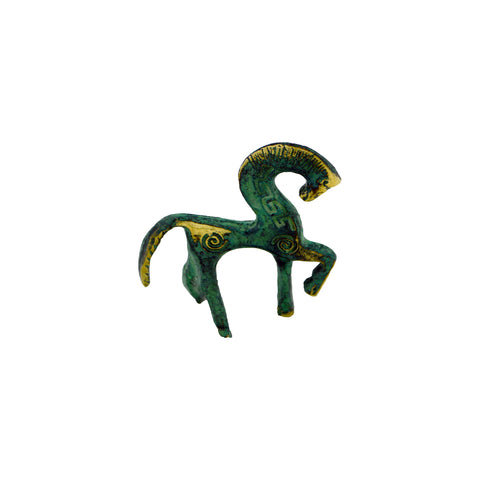 Horse of geometric period (bronze natural oxydite) 10cm