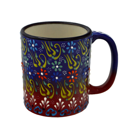 Mug colorful with flowers