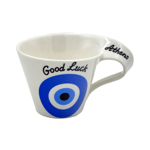 Cup evil eye with good luck