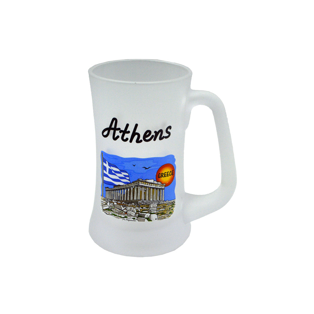 Mug with acropolis (blue) 16cm
