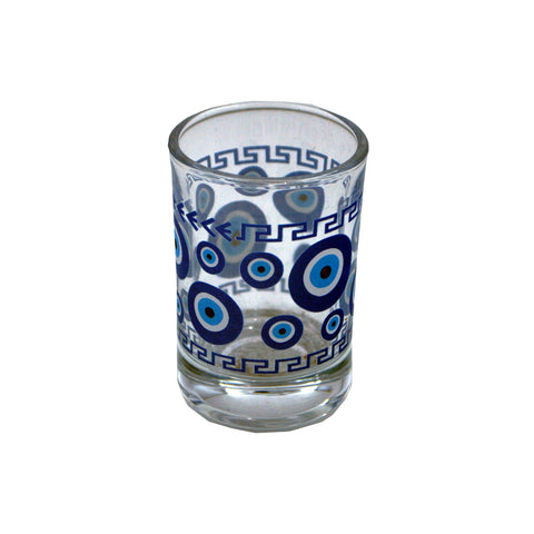 Shot with charm for the evil eye (blue) 5cm