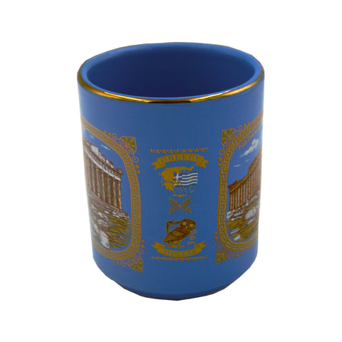 Mug with Parthenon (blue - gold)