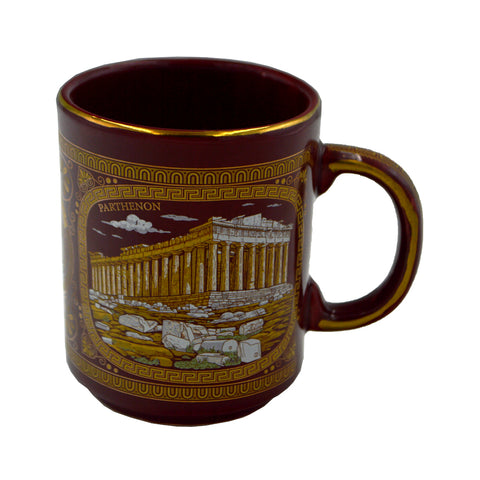 Mug with Parthenon (dark brown) 10cm