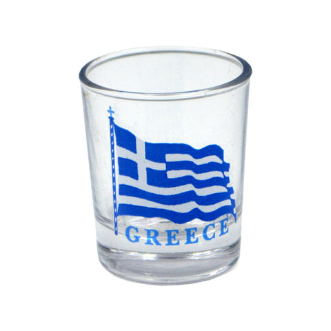 Shot with the Greek flag (blue) 5cm