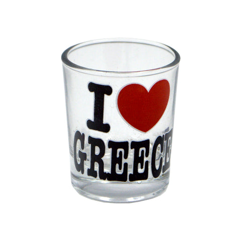 Shot ''I love Greece'' (black - red) 5cm