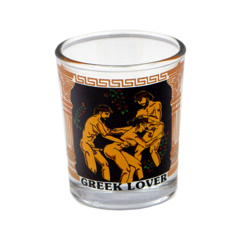 Shot Greek lover (black - orange) 5cm