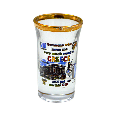 Shot with acropolis ''someone who loves me very much went to greece and got me this gift''(gold) 5cm