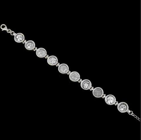 Silver bracelet with coins (ask for price)