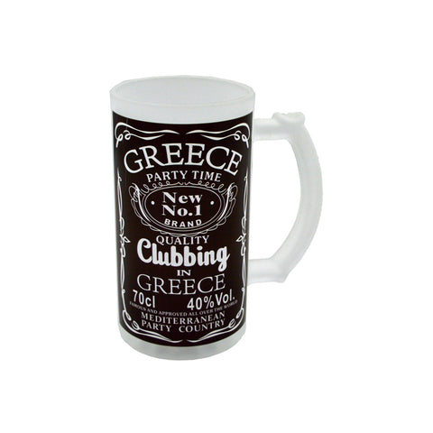 Mug for beer ''party time'' (black) 16cm