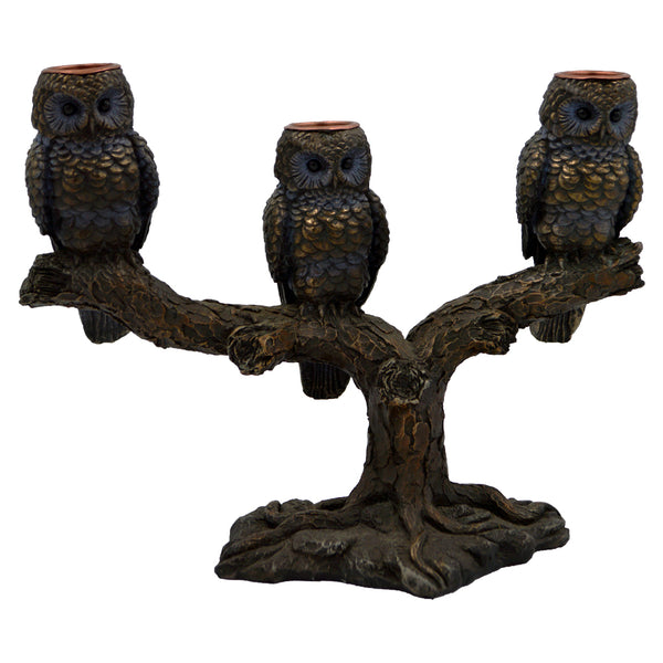 Owl of Athena ( three candlestick ) 24cm
