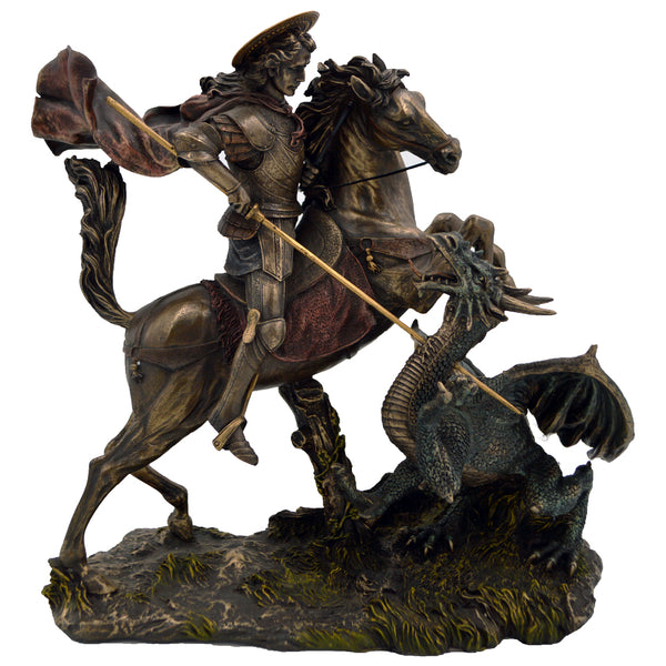 Saint George and the Dragon being defeated 31cm