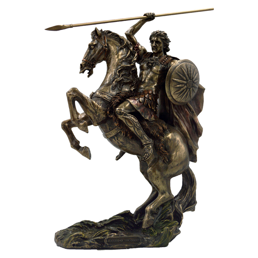 Alexander the Great with horse and spear 31cm