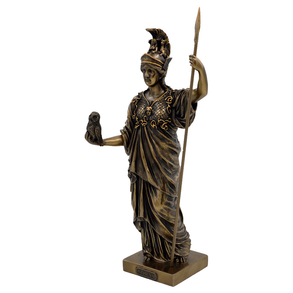 Athena with owl and spear 36cm