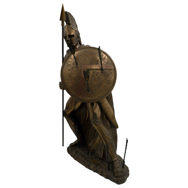 Leonidas Greek warrior king of sparta with spear and shield hurt by arrows 44cm